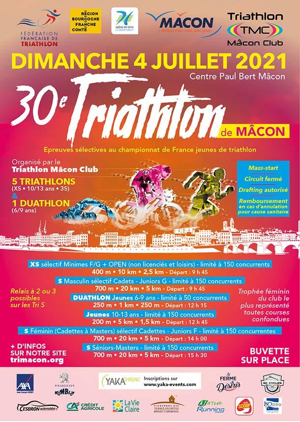 30 eme Triathlon de Mâcon